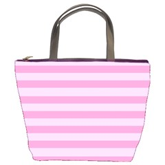 Fabric Baby Pink Shades Pale Bucket Bags