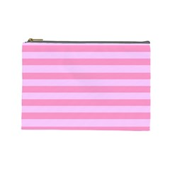 Fabric Baby Pink Shades Pale Cosmetic Bag (Large)