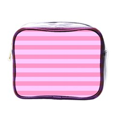 Fabric Baby Pink Shades Pale Mini Toiletries Bags