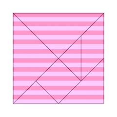 Fabric Baby Pink Shades Pale Acrylic Tangram Puzzle (6  x 6 )