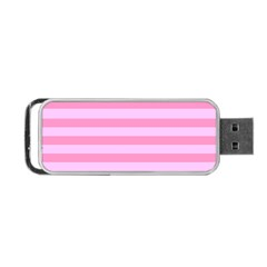 Fabric Baby Pink Shades Pale Portable USB Flash (Two Sides)