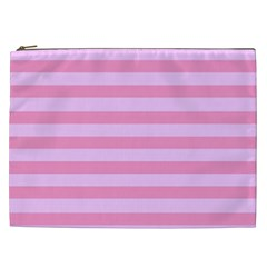 Fabric Baby Pink Shades Pale Cosmetic Bag (XXL)