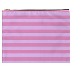 Fabric Baby Pink Shades Pale Cosmetic Bag (XXXL)