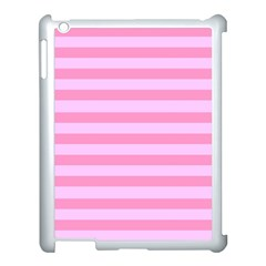 Fabric Baby Pink Shades Pale Apple iPad 3/4 Case (White)