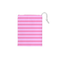 Fabric Baby Pink Shades Pale Drawstring Pouches (XS)