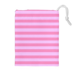 Fabric Baby Pink Shades Pale Drawstring Pouches (Extra Large)