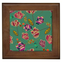 Flowers Pattern Framed Tiles