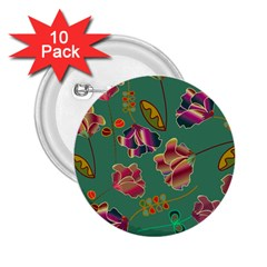 Flowers Pattern 2.25  Buttons (10 pack)