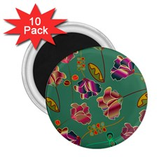 Flowers Pattern 2.25  Magnets (10 pack)