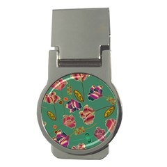 Flowers Pattern Money Clips (Round)