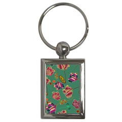 Flowers Pattern Key Chains (Rectangle)