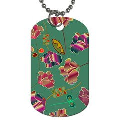 Flowers Pattern Dog Tag (One Side)