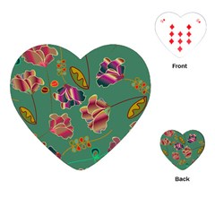 Flowers Pattern Playing Cards (Heart)