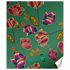 Flowers Pattern Canvas 8  x 10