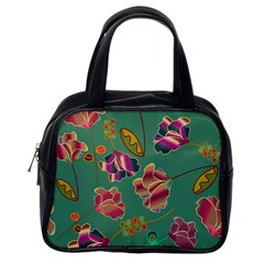 Flowers Pattern Classic Handbags (One Side)