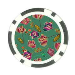 Flowers Pattern Poker Chip Card Guard (10 pack)