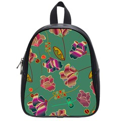 Flowers Pattern School Bags (Small)