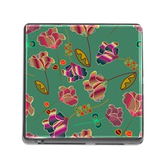 Flowers Pattern Memory Card Reader (Square)