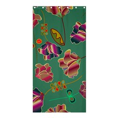 Flowers Pattern Shower Curtain 36  x 72  (Stall)