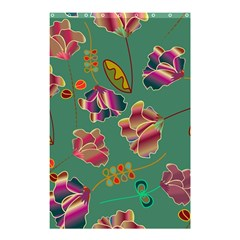 Flowers Pattern Shower Curtain 48  x 72  (Small)