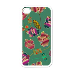 Flowers Pattern Apple iPhone 4 Case (White)