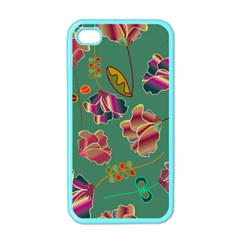 Flowers Pattern Apple iPhone 4 Case (Color)