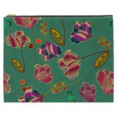 Flowers Pattern Cosmetic Bag (XXXL)
