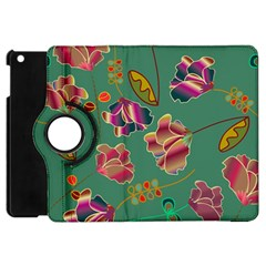 Flowers Pattern Apple iPad Mini Flip 360 Case