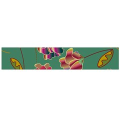 Flowers Pattern Flano Scarf (Large)