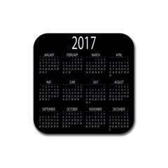 Full 2017 Calendar Vector Rubber Coaster (Square)