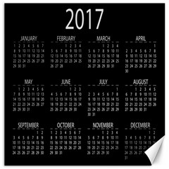 Full 2017 Calendar Vector Canvas 12  x 12