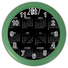 Full 2017 Calendar Vector Color Wall Clocks