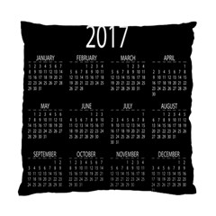 Full 2017 Calendar Vector Standard Cushion Case (Two Sides)