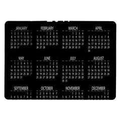 Full 2017 Calendar Vector Samsung Galaxy Tab 10.1  P7500 Flip Case