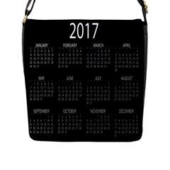 Full 2017 Calendar Vector Flap Messenger Bag (L)