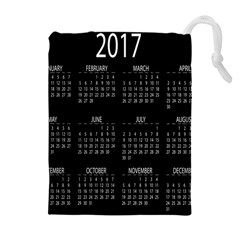 Full 2017 Calendar Vector Drawstring Pouches (Extra Large)