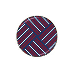 Geometric Background Stripes Red White Hat Clip Ball Marker (4 pack)