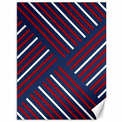 Geometric Background Stripes Red White Canvas 36  x 48