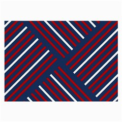 Geometric Background Stripes Red White Large Glasses Cloth