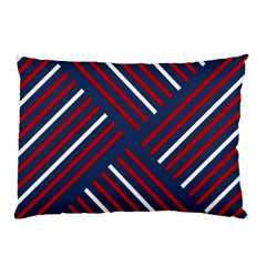 Geometric Background Stripes Red White Pillow Case
