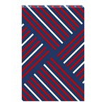 Geometric Background Stripes Red White Shower Curtain 48  x 72  (Small)  42.18 x64.8 Curtain