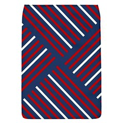 Geometric Background Stripes Red White Flap Covers (S)