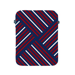 Geometric Background Stripes Red White Apple iPad 2/3/4 Protective Soft Cases