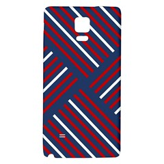 Geometric Background Stripes Red White Galaxy Note 4 Back Case