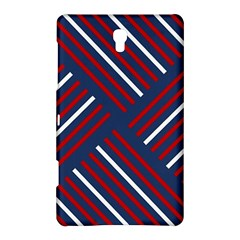 Geometric Background Stripes Red White Samsung Galaxy Tab S (8.4 ) Hardshell Case