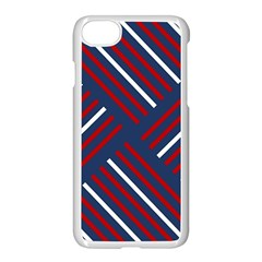 Geometric Background Stripes Red White Apple Iphone 7 Seamless Case (white)