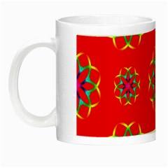 Geometric Circles Seamless Pattern Night Luminous Mugs