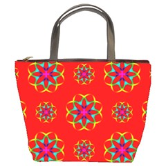 Geometric Circles Seamless Pattern Bucket Bags