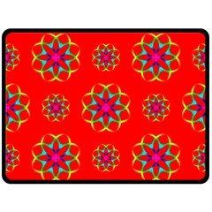 Geometric Circles Seamless Pattern Double Sided Fleece Blanket (Large)