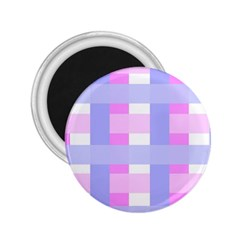 Gingham Checkered Texture Pattern 2.25  Magnets